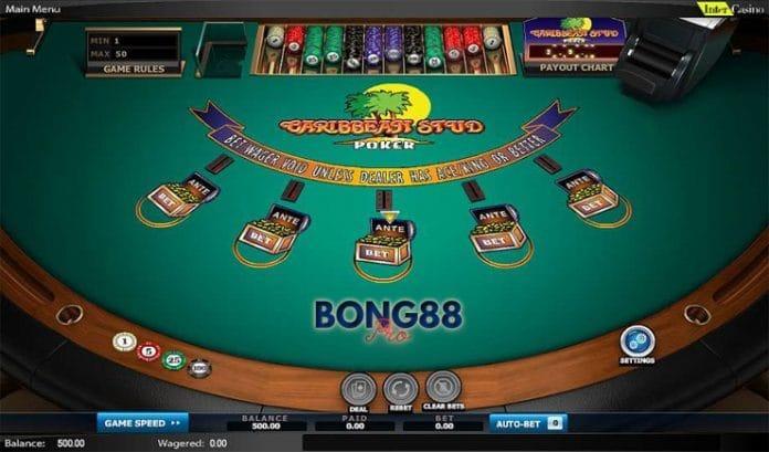 Cách chơi Caribbean Poker