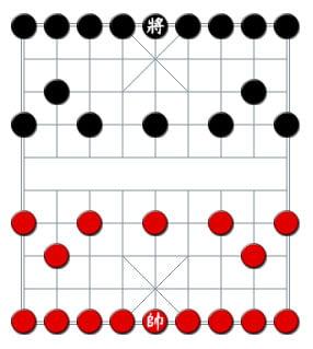 Cách thiết lập bàn đánh cờ úp